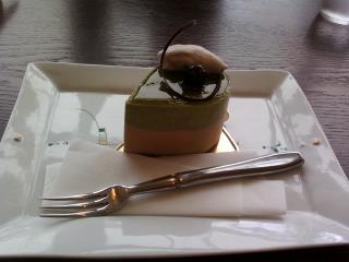 宇治で抹茶ムースを食べました☆